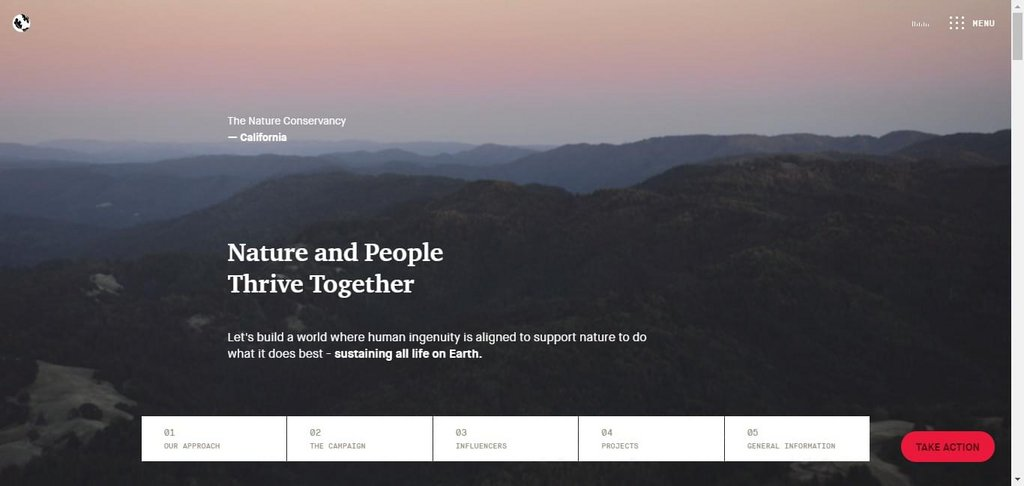 The Nature Conservancy – screenshot 1 – #webdesign #inspiration #design #ux #ui