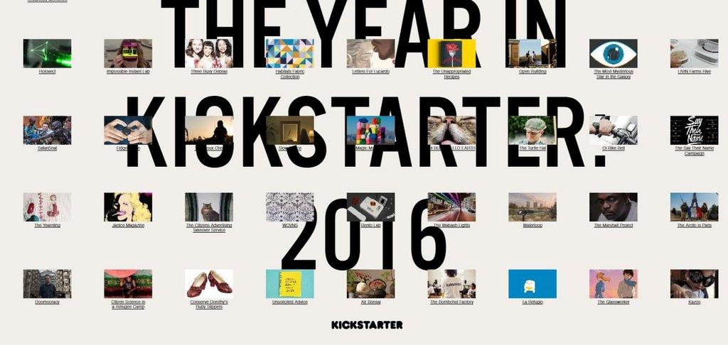 The Year in Kickstarter 2016