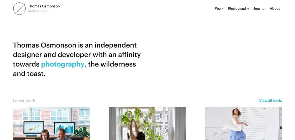 Thomas Osmonson – screenshot 1 – #webdesign #inspiration #design #ux #ui