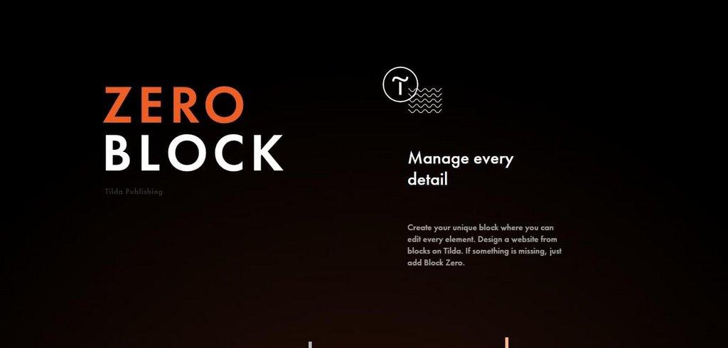 Tilda Zero Block web design editor