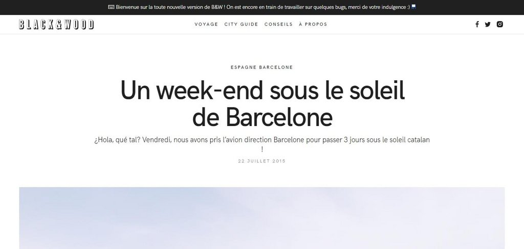 Un week-end sous le soleil de Barcelone – Black and Wood