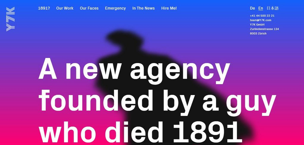 Y7K Zurich – A new agency founded by a guy who died 1891