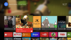 Android TV – Ecran d'accueil