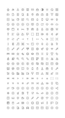 Micons – 231 Icônes gratuites