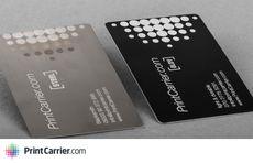 PrintCarrier.com - Luttez contre l'ennuyante carte de visite avec le bois, l'acier & le vinyle