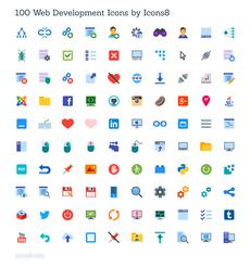 100 icônes de développeurs – Gratuites