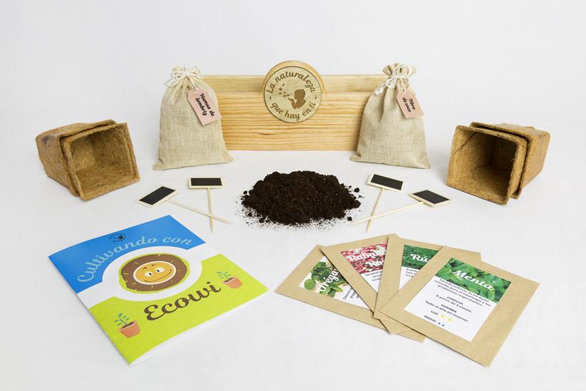 Elementos del kit de cultivo