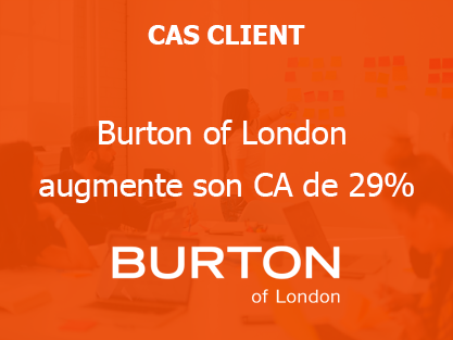 Burton of London augmente son CA de 29%