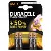 Batterie duracell plus alcaline mini stilo aaa lr03 conf. 4pz