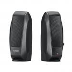 "Speakers logitech s-120 2.0 nere jack 3,5"" alimentazione 220v"