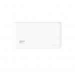 Power bank 5000mah silicon power s50 bianco 2p usb (2.1a e 1a)
