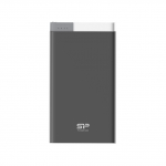 Power bank 5000mah silicon power s55 1 usb dual in metallic blk