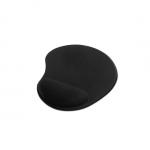 Tappetino per mouse con poggiapolsi in gel colore nero