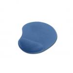 Tappetino per mouse con poggiapolsi in gel colore blu