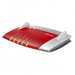 AVM FRITZ!Box 7490 International Dual-band (2.4 GHz/5 GHz) Gigabit Ethernet Rosso, Argento
