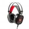 Cuffie gaming itek taurus h321 led rosso mic. invisibile + stand