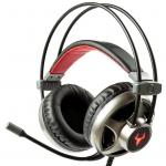 Cuffie gaming itek taurus h322 led rosso mic. regolabile + stand