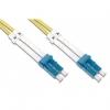 Cavo fibra ottica 5mt connettori lc-lc 50/125m om3 multim. blue