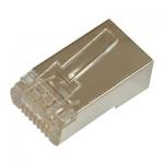 Connettore plug 8 poli rj45 cat.5e schermato per cavi rete flessibili
