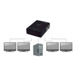 Video splitter compatto per 4 monitor vga