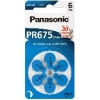 Confezione 6 pile a bottone 1,4 volt zinco pr44 (pr675)