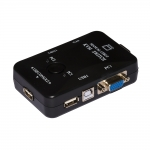 Kvm switch 2 pc usb/vga 1 mouse 1 tast. con cavi manuale