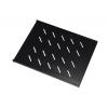 Ripiano rack 19 1u prof. 350mm colore nero con aggancio laterale
