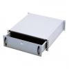 """Cassetto per armadi rack 19"""" con serratura, 3 unita', colore grigio ral7035-dimensioni (l/p/a) mm. 485x480x134 (dn-19 key-3u)"""