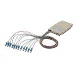 Cassetta di giunzione fibra ottica con 12 pigtail lc om4