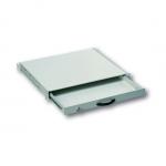 """Cassetto estraibile con maniglia e chiusura a chiave per armadi rack 19"""" misure mm. 482x45x492 colore grigio chiaro"""