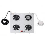 Kit 4 ventole con termostato colore grigio chiaro per armadi linea professionale