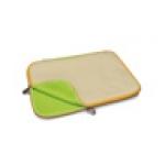 "Custodia per notebook 15,4""  in neoprene ""chicken scratch"" beige/giallo  cm. 38,5 x 28"