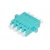 Adattatore fibra ottica lc/lcquad multimode om3 multimode