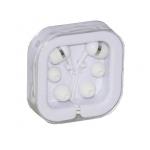 Auricolari stereo colore bianco con 4 cuscinetti di ricambio