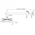 Braccio a muro per proiettore estensibile 820-1200 mm.