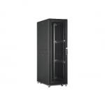 """Armadio rack 19"""" 42 unita' linea server (a)1970 x (l)800 (p)1000mm. colore nero con porta traforata e ruote"""