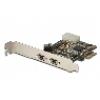 Scheda pci-express firewire con 2 porte ieee1394b 9 poli esterne e 1 interna