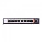 Hub switch 8 porte poe 10/100 + 1p uplink 15,4w/porta link