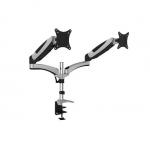 Supporto da tavolo per due schermi led/lcd con molla a gas