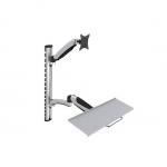 Supporto a parete per monitor e tastiera