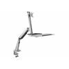 Postazione di lavoro ergonomica seduti/in piedi per installazione sulla scrivania