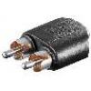 Adattatore audio 1 x 3,5mm stereo femmina - 2 x rca maschio