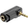 Adattatore audio stereo 3,5mm m poli femmina - maschio angolato