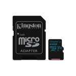 Flash card micro-sd 64gb kingston canvas