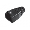 Copriconnettore per plug rj45 nero  confezione 10 pz.