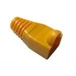 Copriconnettore per plug rj45 giallo confezione 10 pz.