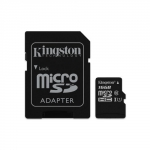 Micro sd 16gb con adatt. c10 uhs-i kingston canvas sdcs/16gb