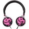 "Cuffia stereo ""skull"" 40mm vol. jack 3,5"" majestic cra284 bk/pk"