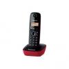 Telefono cordless dect panasonic kx-tg1611 nero/rosso