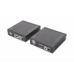 Estensore tramite cavo di rete kvm per video hdmi tastiera e mouse usb 70 mt